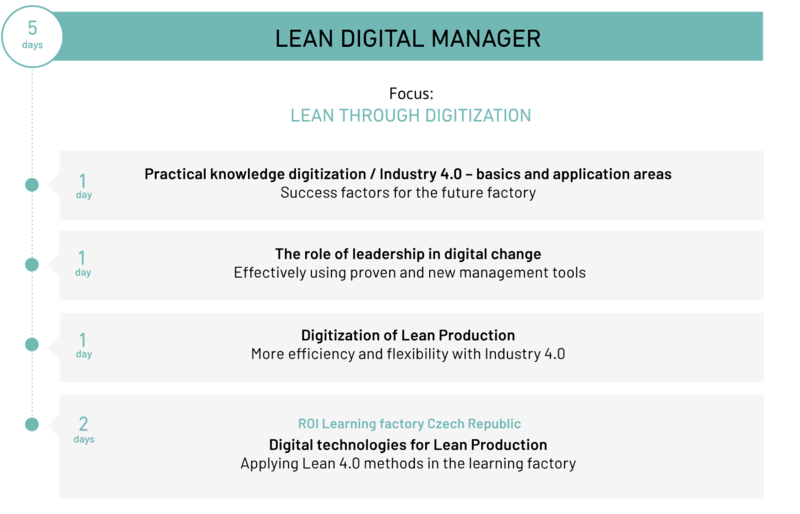 Overview of the course ROI Lean Digital Manager