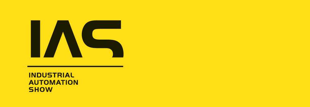 Logo des IAS auf gelben Hintergrund