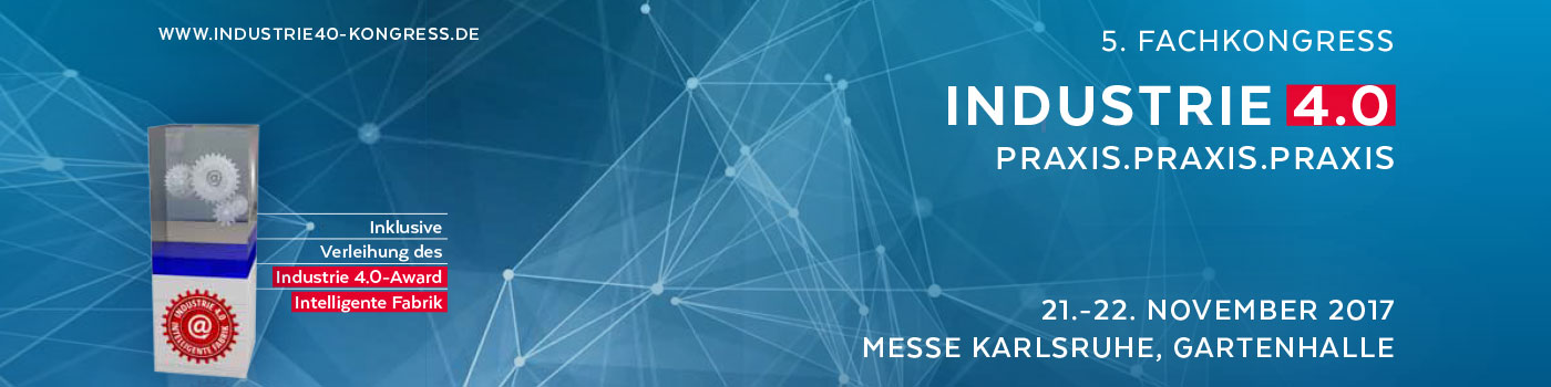 Banner für den 5. Industrie 4.0-Award 2017